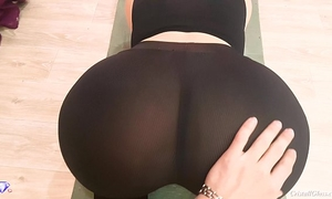 Big butt with leggings, pov oral-service and sex - cristall gloss
