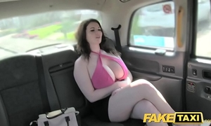 Fake taxi fine large meatballs receive drilled and sucked