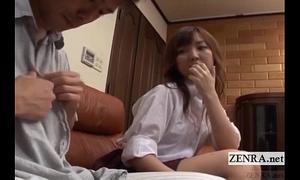 Subtitled cfnm japanese schoolgirl with aged boyfriend