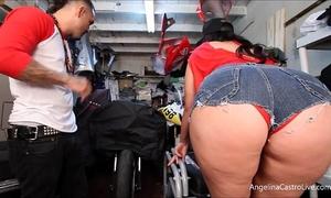 Big titted angelina castro copulates & takes spunk fountain in bike garage!