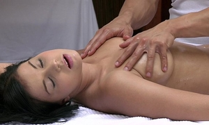 Orgasms nice-looking youthful slutwife has her hawt body massaged and satisfied by sexy man