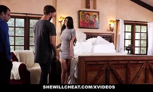 Shewillcheat - unhappy slutwife bonks her boytoy in front of spouse