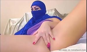 Arab playgirl plays on camera